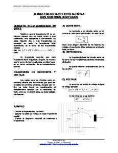 CIRCUITOS DE CORRIENTE ALTERNA CON NUMEROS COMPLEJOS