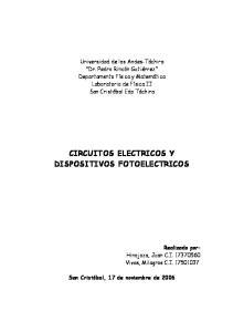 CIRCUITOS ELECTRICOS Y DISPOSITIVOS FOTOELECTRICOS