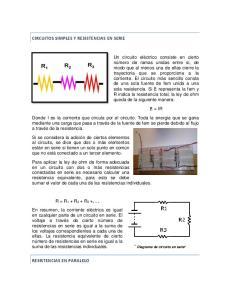 CIRCUITOS SIMPLES Y RESISTENCIAS EN SERIE