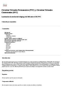Circuitos Virtuales Permanentes (PVC) y Circuitos Virtuales Conmutados (SVC)