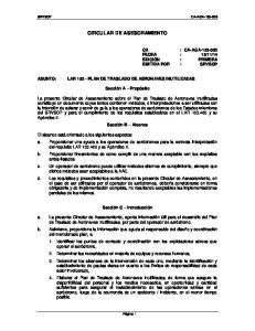 CIRCULAR DE ASESORAMIENTO