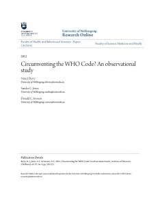Circumventing the WHO Code? An observational study