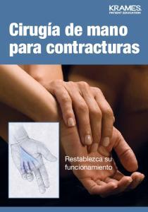 Cirugía de mano para contracturas