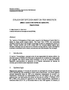 CIRUGIA ORTOPEDICA ASISTIDA POR IMAGENES