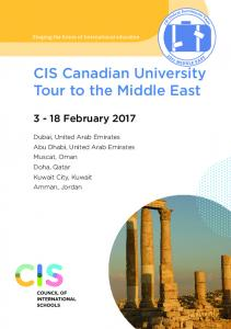 CIS Canadian University Tour to the Middle East