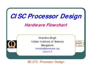 CISC Processor Design