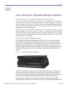 Cisco 350 Series Stackable Managed Switches