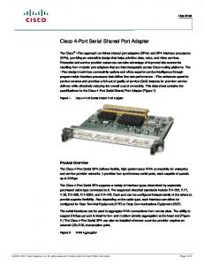 Cisco 4-Port Serial Shared Port Adapter