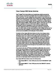 Cisco Catalyst 2955 Series Switches