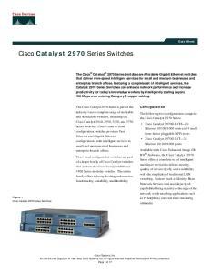 Cisco Catalyst 2970 Series Switches