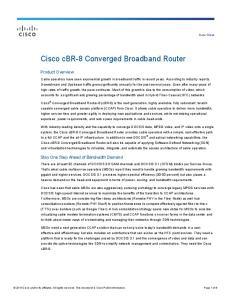 Cisco cbr-8 Converged Broadband Router