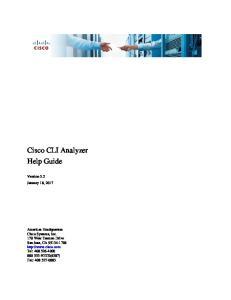 Cisco CLI Analyzer Help Guide