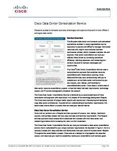 Cisco Data Center Consolidation Service