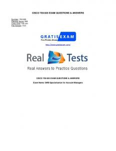 CISCO EXAM QUESTIONS & ANSWERS