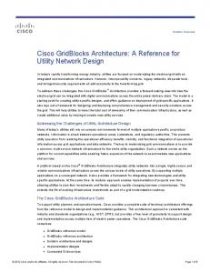 Cisco GridBlocks Architecture: A Reference for Utility Network Design