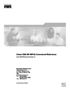Cisco IOS-XR MPLS Command Reference