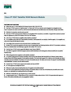 Cisco IP VSAT Satellite WAN Network Module