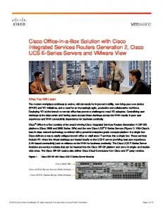 Cisco Office-in-a-Box Solution with Cisco Integrated Services Routers Generation 2, Cisco UCS E-Series Servers and VMware View