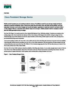 Cisco Persistent Storage Device