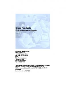 Cisco Products Quick Reference Guide