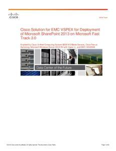 Cisco Solution for EMC VSPEX for Deployment of Microsoft SharePoint 2013 on Microsoft Fast Track 3.0