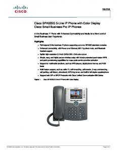 Cisco SPA525G 5-Line IP Phone with Color Display Cisco Small Business Pro IP Phones