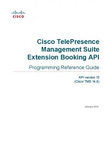 Cisco TelePresence Management Suite Extension Booking API