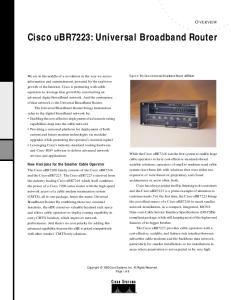 Cisco ubr7223: Universal Broadband Router