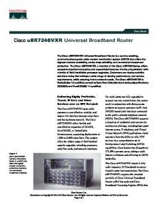 Cisco ubr7246vxr Universal Broadband Router