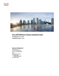 Cisco UCS 5108 Server Chassis Installation Guide
