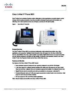 Cisco Unified IP Phone 9951