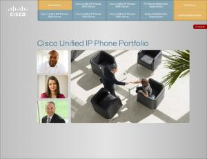 Cisco Unified IP Phone Portfolio