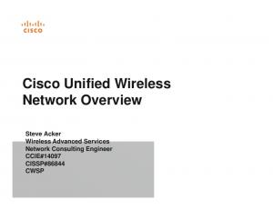 Cisco Unified Wireless Network Overview