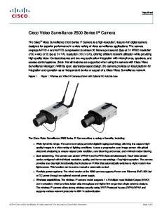 Cisco Video Surveillance 2500 Series IP Camera