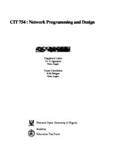 CIT 754 : Network Programming and Design