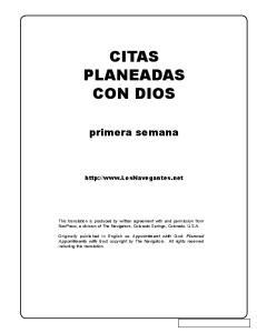 CITAS PLANEADAS CON DIOS
