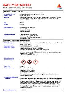 CITGO No. 2 Diesel Fuel, High Sulfur, All Grades