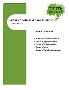 Cities of Refuge: A Type of Christ