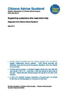 Citizens Advice Scotland Scottish Association of Citizens Advice Bureaux