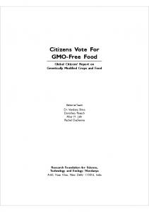 Citizens Vote For GMO-Free Food