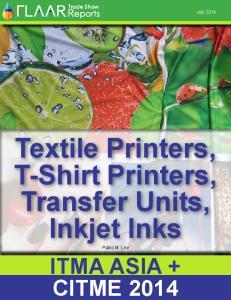 CITME Textile Printers, T-Shirt Printers, Transfer Units, Inkjet Inks