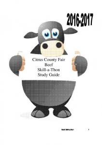 Citrus County Fair Beef Skill-a-Thon Study Guide