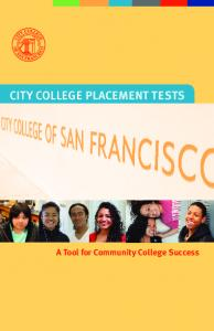 City college placement tests