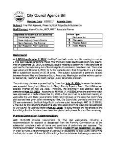 City Council Agenda Bill
