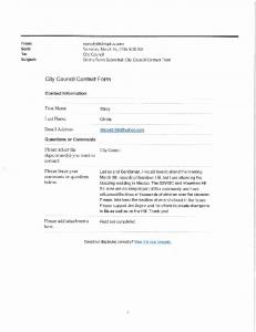 City Council Contact Form