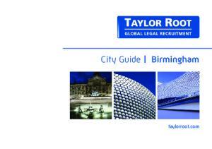 City Guide Birmingham. taylorroot.com