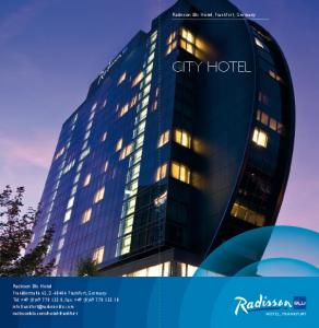 city Hotel Radisson Blu Hotel, Frankfurt, Germany