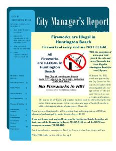 City Manager s Report