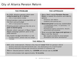 City of Atlanta Pension Reform