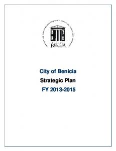 City of Benicia Strategic Plan FY